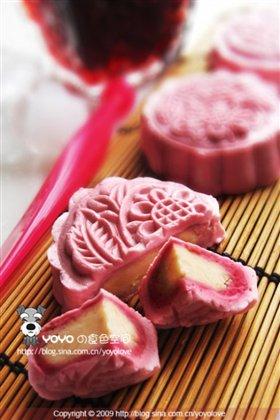 玫瑰红酒莲蓉冰皮月饼的做法 玫瑰红酒莲蓉冰皮月饼怎么做好吃 桃小